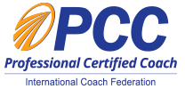 An image showing the International Coaching Federation Professional Certified Coach Logo