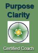 An image showing the Purpose Clarity Certified Coach Badge